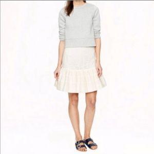 Cream drop waist skirt